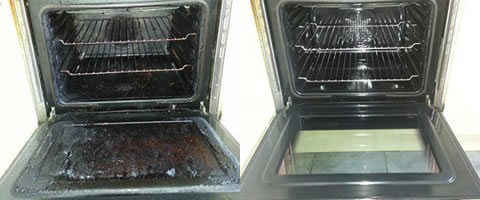 oven cleaning in Ashton in Makerfield before and after photo