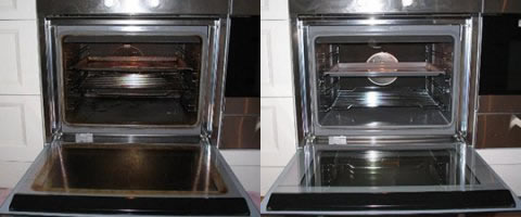 oven cleaning in Ashton in Makerfield before and after picture